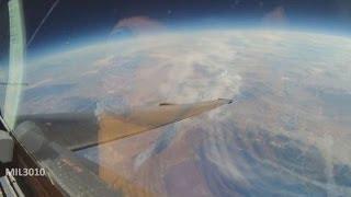 """Полет в """"космос"""" на самолете U-2 Вид из кабины пилота"""