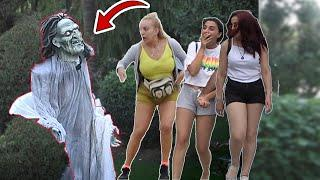 SCARY HALLOWEEN GHOST PRANK 2  AWESOME REACTIONS  Best of Just For Laughs