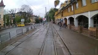 Львів | трамвай 3 | вид з кабіни